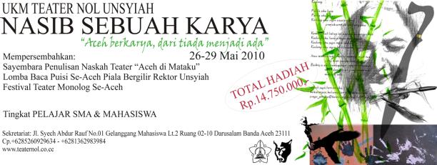 """""""Aceh berkarya, dari tiada menjadi ada"""""""